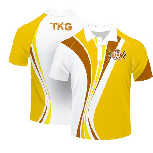 Sublimated Polo T Shirt Printing Top